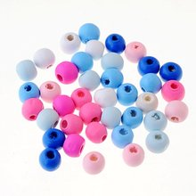 50pcs 10x9mm Round Wooden Beads Wood Findings For Baby DIY Crafts Kids Toys Spacer Beading Bead Jewelry Making DIY