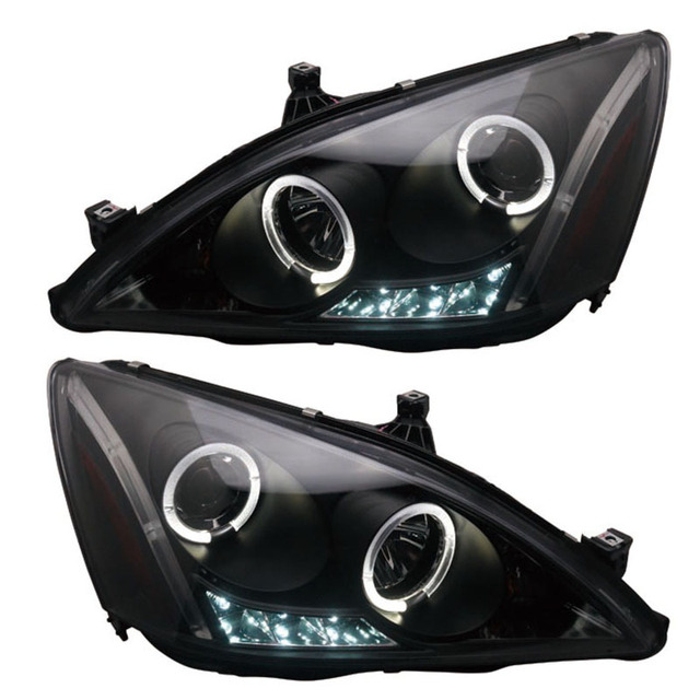 For Gen 7 Honda Accord Angel Eye Projector Headlights Fit 2003 2007 Year Cars