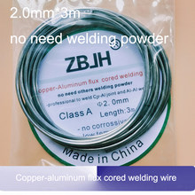 2.00mm*3m Copper-aluminum flux cored welding wire low temperature Cu-Al welding rods for air conditioner refrigerator(China)