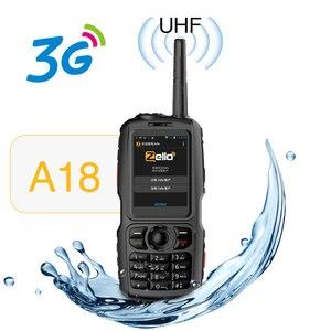 Image 1 - A18 Walkie Talkie con UHF 3800mah IP68 impermeable teléfono inteligente Android4.2.2 Dual SIM Smart Radio GPS Zello 3G WCDMA teléfono móvil