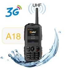 Uhf 3800mah ip68 방수 스마트 전화 android4.2.2 듀얼 sim 스마트 라디오 gps zello 3g wcdma 휴대 전화와 a18 워키 토키