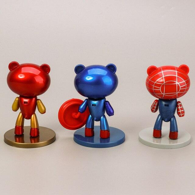 6 pièces/lot Avengers Infinity War Super Heros ours Batman/wonder Woman/Captain America/Iron Man/spiderman jouets figurines modèle poupées