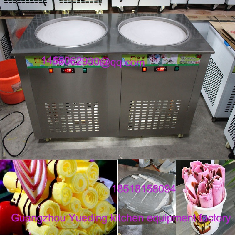 Thailand Style Fried Ice Cream Machine / Fried Ice Cream Roll Machine 110v 220v thailand fried ice cream machine snack machine ice cream cold plate one pan fried ice cream roll machine