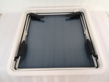 630*630mm Square Marine Grade Nylon Boat Deck Hatch Window With Tempered Glass and Trim Ring