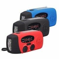 1pc Portable Emergency Solar Radio Flashlight Hand Crank AM/FM Radio 3LED Flashlight Charger 3Colors Mayitr