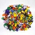 144 pcs de Forma Aleatória HOT Marca New Bonito Puxão Ir Seg ir figuras Pikachu Mini figura de ação Monstro brinquedos lote 2-3 cm de Natal presentes
