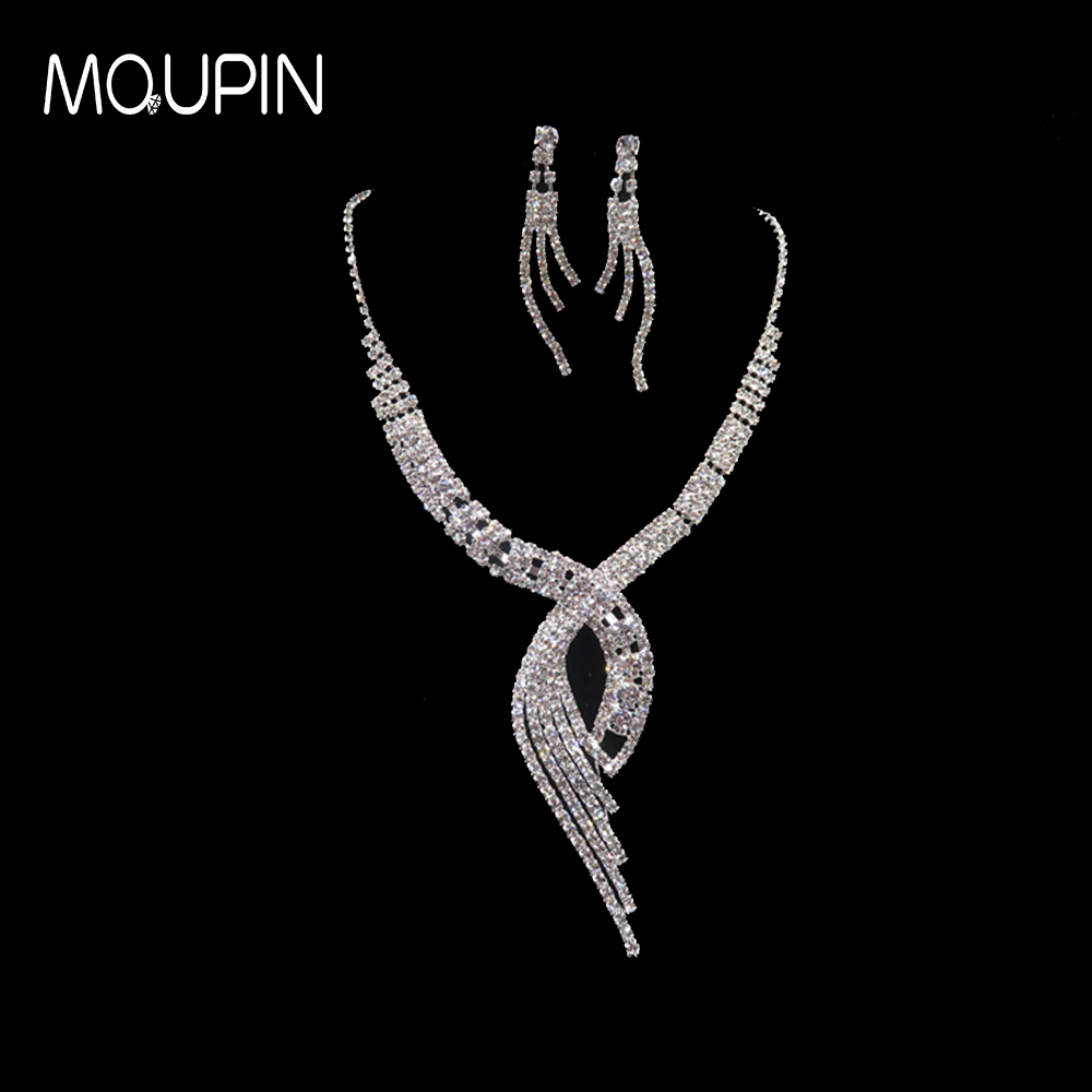 MQUPIN Long Tassel Jewelry Set Fashion Big Temperament Multilayer Tassel Jewelry Sets Necklace Earrings Luxury Fashion set