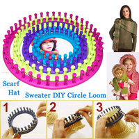 4Size Brand Loom DIY Tool Kit Plastic Round Circle Creative Hat Scarf Sweater Circle Looms High