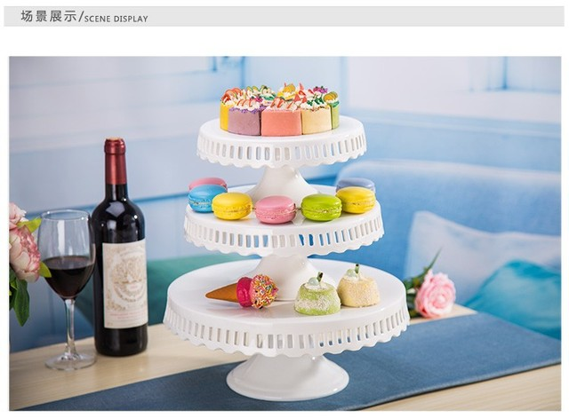 Inch 12 Inch Ceramic Cake Stand Wedding White Cake Pan Wedding Cake Plate Cupcake Decoration Display