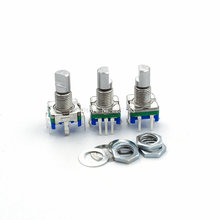 5PCS/LOT 20 Position Code Switch Rotary Encoder EC11 Digital Potentiometer With 5Pin Handle Length 15mm