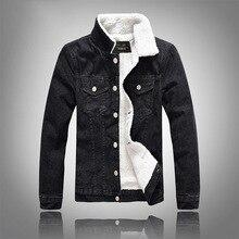 b Men Jacket and Coat Trendy Warm Fleece Denim 2018 Winter Fashion Mens Jean Outwear Male Cowboy 5XL