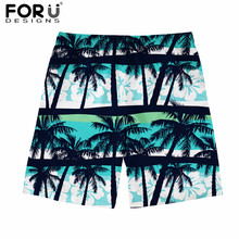 fc99701430ef3 FORUDESIGNS Hawaiian Style Summer Men Board Short Tropical Forest Pattern  Breathable Beach Shorts for Male Boys