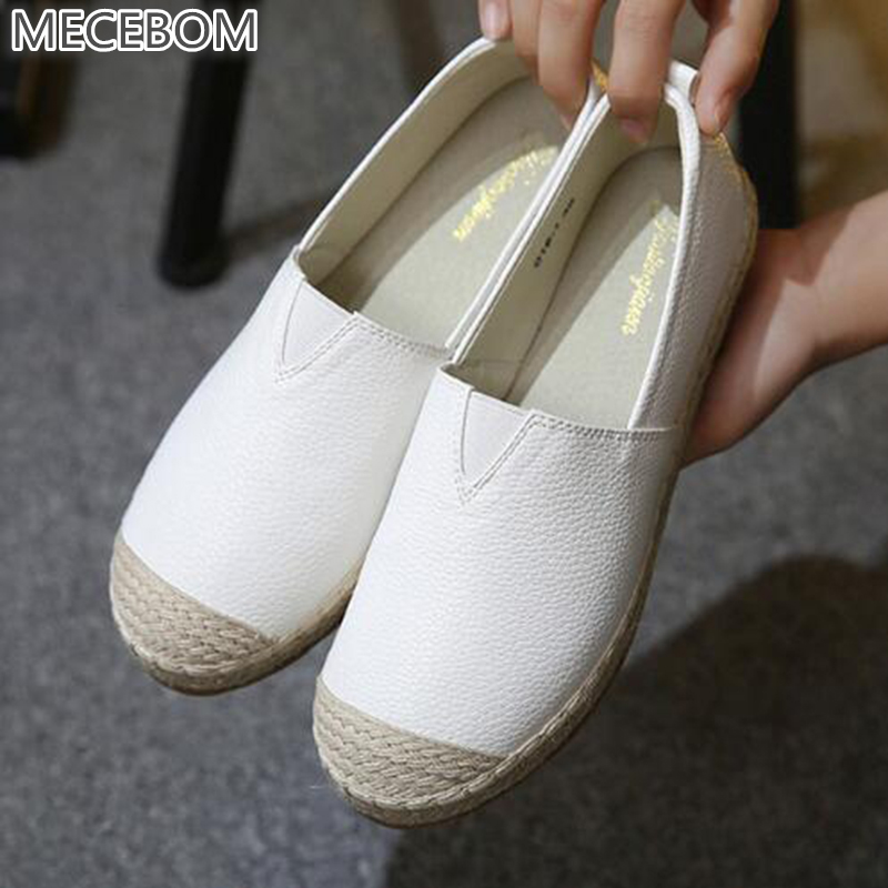 2018 Loafers shoes Women slip on Flats Solid spring Summer ladies round toe white shoe Plus Size footwear Y161W spring summer flock women flats shoes female round toe casual shoes lady slip on loafers shoes plus size 40 41 42 43 gh8