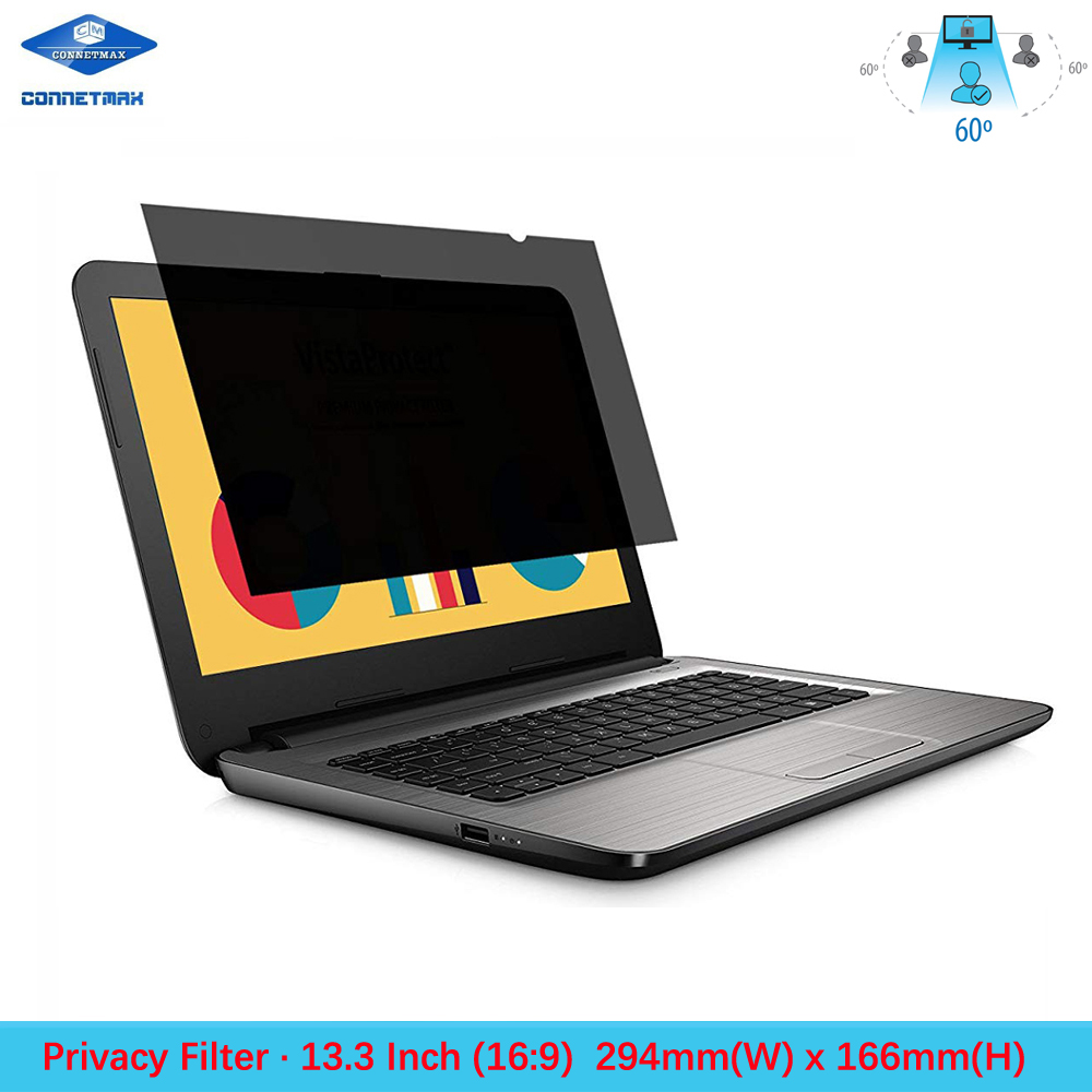 13.3 Inch Laptop Privacy Filter Screen Protector Film For Widescreen(16:9) Notebook LCD Monitors