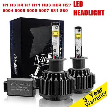 Pair Car LED Headlight H4 H7 H11 H1 H3 H8 H9 H10 HB3 9005 HB4 9006 H27 881 9004 9007 H13 Auto LED Headlights bulb conversion kit
