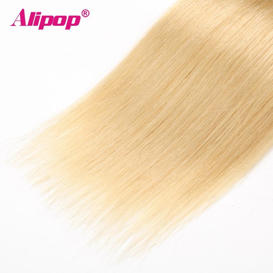 T1B 613 Bundles Brazilian Hair Straight Human Hair 3 4 Bundles Dark Roots Blonde Bundles Ombre Non Remy Hair Extensions ALIPOP (4)