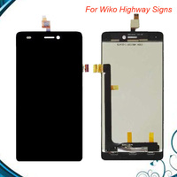 High Quality For Wiko Highway Signs LCD And Touch Screen Assembly Replacement Parts Black White Free