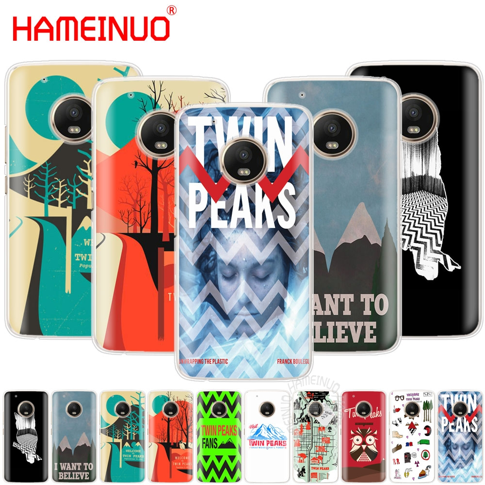 HAMEINUO welocme to the twin peaks case cover for For Motorola Moto X4 E4 C G6 G5 G5S G4 Z2 Z3 PLAY PLUS