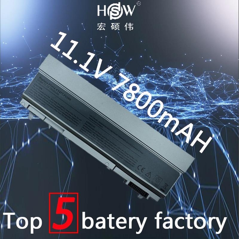 HSW 7800mAh Laptop Battery For Dell Latitude E6400 E6410 E6500 BatteryE6510 M2400 M4400 M4500 M6400 M6500 1M215 312-0215 Battery