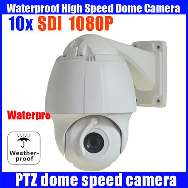 waterproof 1080P Mini SDI camera PTZ 10x zoom camera High Speed Dome camer 1080P HD SDI PTZ Camera Support OSD IP66 with wiper 4 in 1 ir high speed dome camera ahd tvi cvi cvbs 1080p output ir night vision 150m ptz dome camera with wiper