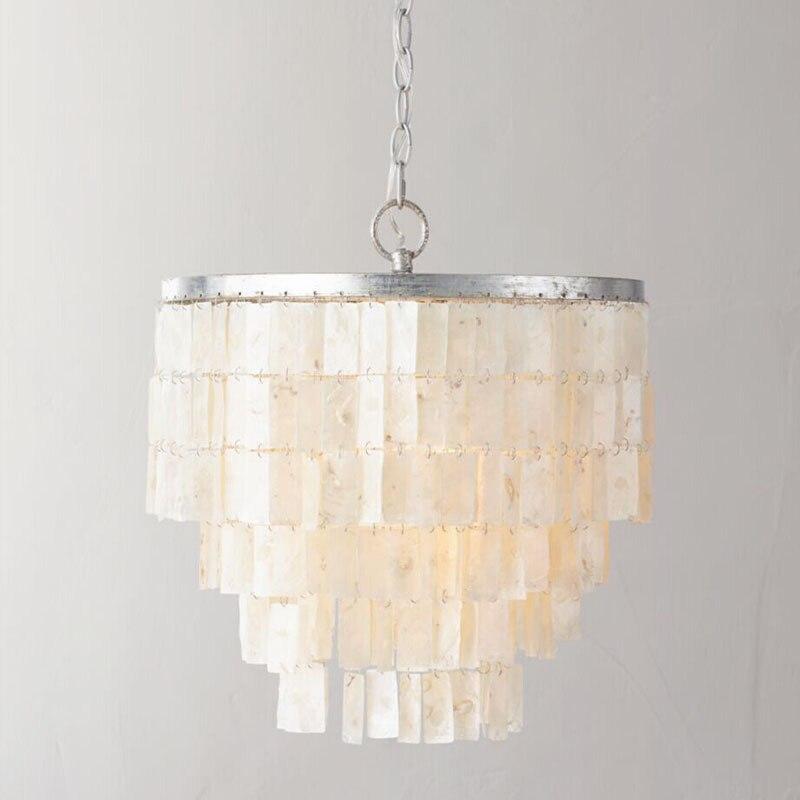 Luxury Retro Mediterranean Sea Handmade Shells Led E14 Pendant Light For Living Room Bedroom Dining Room Dia 44cm Ac 80-265 2003 шины yellow sea 235 245 265 70r75r85r31x10 5r15r16 x8