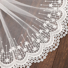 1Yard/Lot High Quality White Elastic Lace Ribbon Trims Underwear Lace Trim Embroidered For Sewing Decoration african lace fabric 1yards beautiful high quality white lace ribbon tape 35cm lace trim diy embroidered for sewing decoration african lace fabric