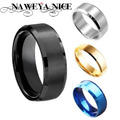 Titanium Band Brushed Wedding Stainless Steel Solid Ring Men Women 316L Stainless Steel Rings