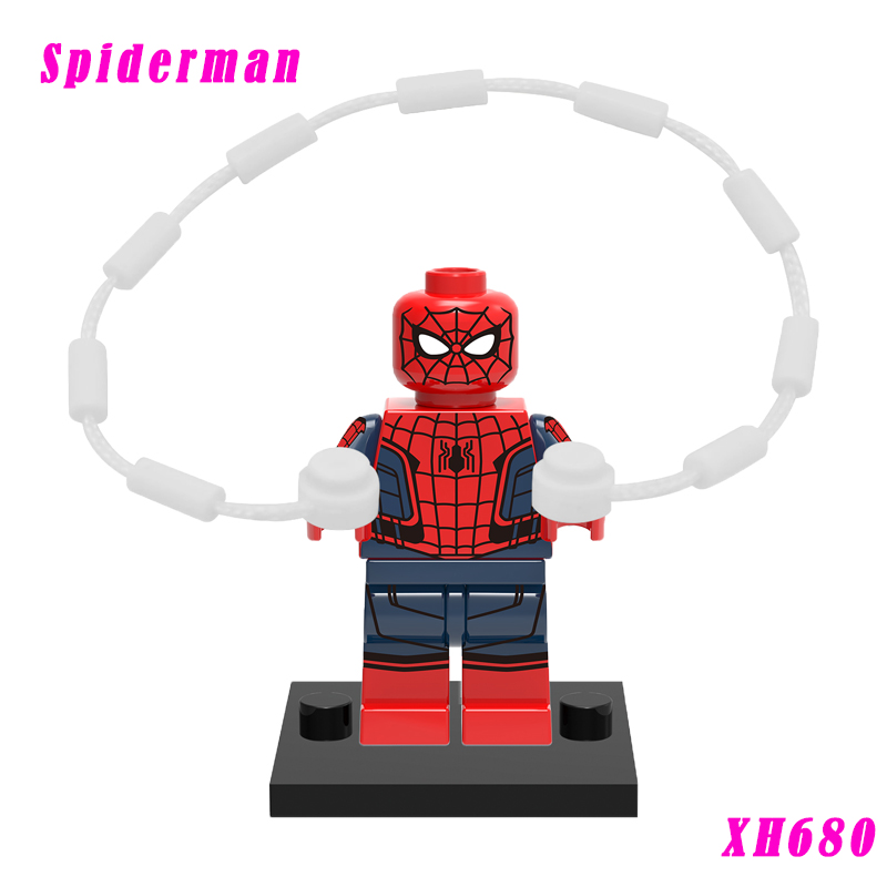 Building Brick Spiderman Super Heroes Supervillains Iroman Silk Vulture Mini Block Single Sale Toys For Children Action Figure pogo red hood action figure super heroes building brick toys collection single sale classic educational toys for kids gifts