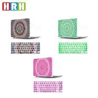 HRH 2in1 Mandala Bloem Siliconen Toetsenbord Cover Laptop Body Shell Hard Case voor Macbook Pro Retina13 12 15 Air 13 11 Touch Bar