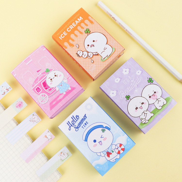 Grass Lovely Cute 6 Folding Memo Pad N Times Sticky Notes Memo Notepad Bookmark Gift Stationery