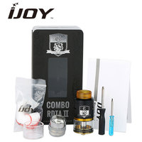 Original IJOY COMBO RDTA 2 Tank 6 5ml Capacity Interchangeable Gold Plated Deck E Cigs Atomizer