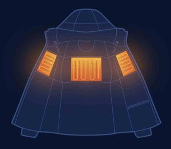 En existencia Xiaomi mijia temperature control chaqueta 90% gris ganso abajo carga tesoro fuente de alimentación 38 a 50 grados usb 1