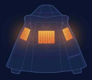 Image 2 - במלאי Xiaomi mijia טמפרטורת בקרת למטה מעיל 90% אפור אווז למטה טעינת אוצר אספקת חשמל 38 כדי 50 מעלות usb