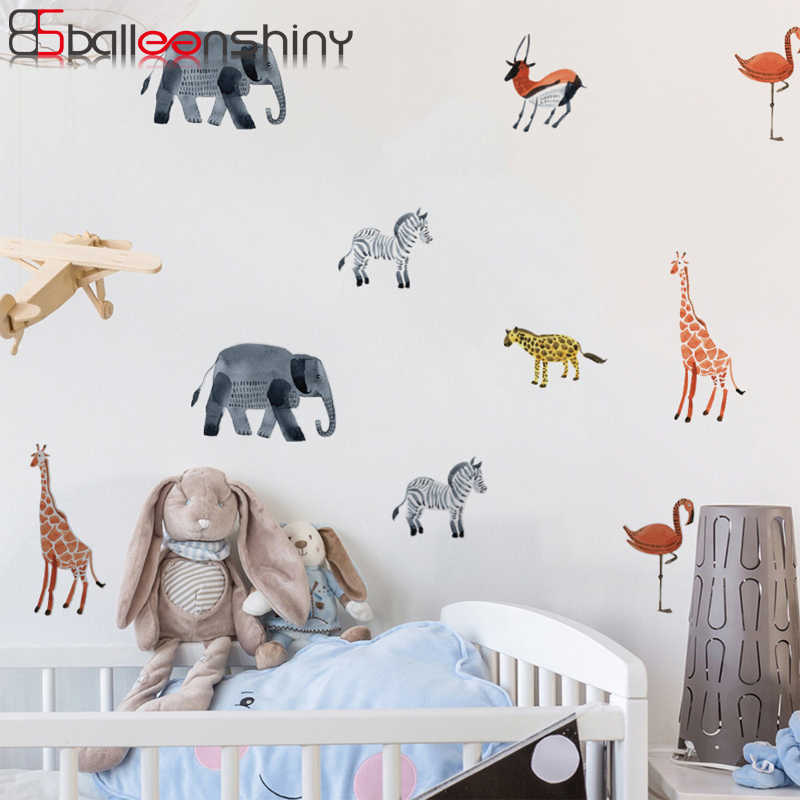 Nordic Style Forest Tree Wall Sticker Kid Nursery Baby Room Decor Woodland Decal