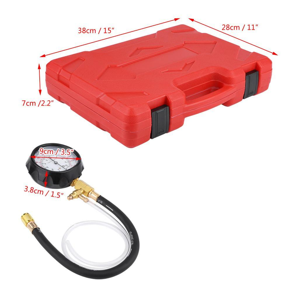Qii lu TU-114 Petrol Diesel Fuel Pressure Gauge Tester Fuel Injection Pump Diagnostic Tool