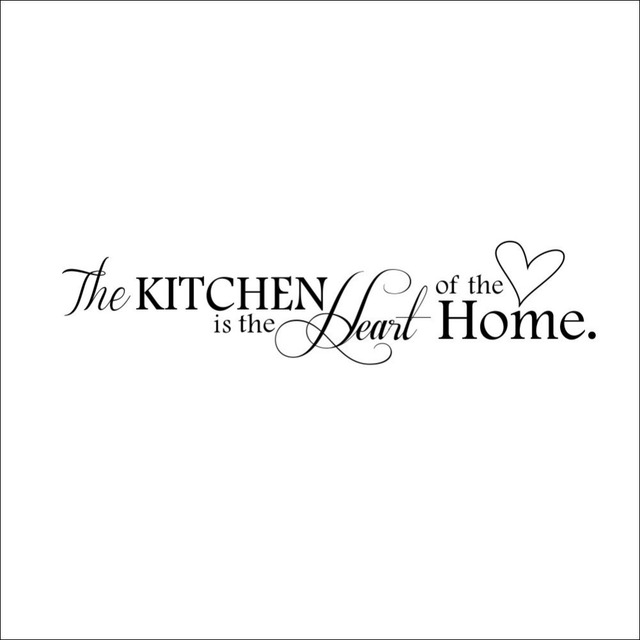Kitchen is the Heart of Home Wall Sticker
