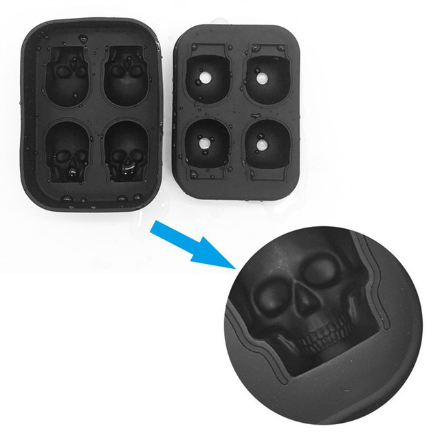 Silicone Ice Tray for Skull Shaped Ice