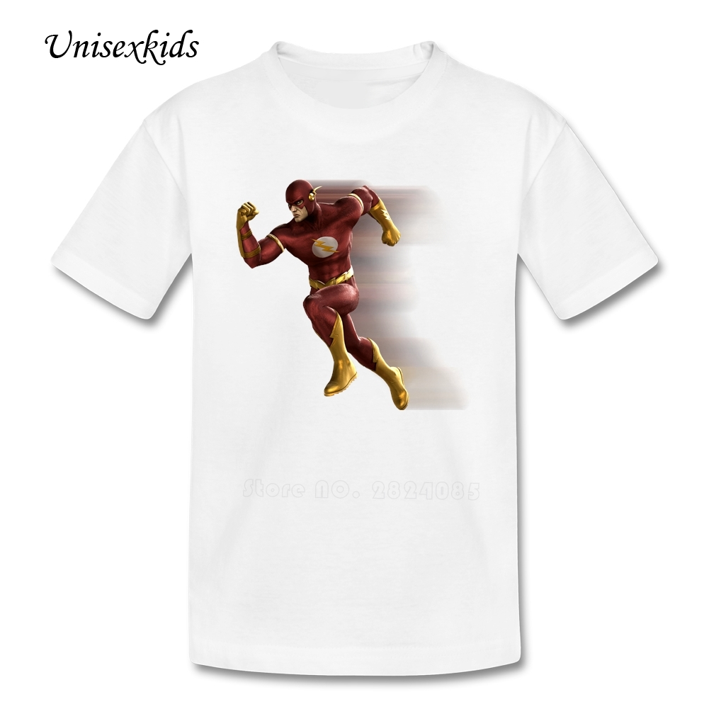 Design your own t-shirt for cheap price - Personalized Kid T Shirts The Flash Summer Clothes T Shirts Boys Girls Short Sleeve 100 Cotton Tee For Youth Cheap Price