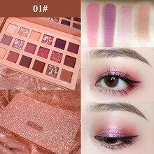 1SET New Long-lasting 18colors Matte Pearl Rose Eyeshadow Plate Waterproof eye-shadow Kit