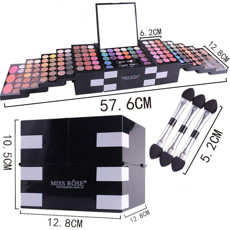 2018 Miss Rose 142 di Colore Opaco Ombretto Tavolozze Glitter Shimmer Impermeabile Ombretto Illuminare di Lunga Durata Trucco Luminoso - 4