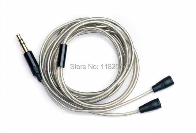 Silver Audio Cable /Wire For IE80 IE8 Top-Quality for earphones headset,  DIY wire cable Line,Upgrade Audio Calbe, Free shipping