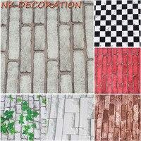 Cegły Ściany Tapety Chiński Styl Vintage, Wykładziny PCV Tapeta Rolka Salon Tle Ściany Strona Dekoracji Tło 5 m