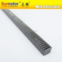 Mod 1 12x12x1000mm spur Gear rack right teeth WIDTH 12MM HEIGHT 12MM LENGTH 1000mm 45# steel Transmission CNC parts modulus 1 M1