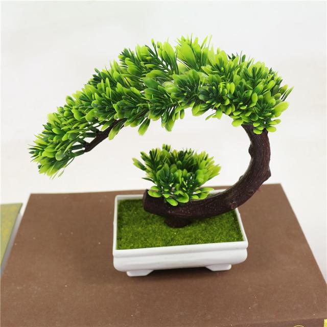 W Magazynie 1 Sztuk Zielone Sztuczne Rośliny Sztuczne Kwiaty
