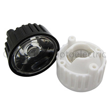 50pcs/lot LED lens for 1W 3w light black white holder 20mm high quality 5 10 30 45 60 90 120 degree optical