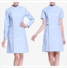 New Women Medical Lab Coats Doctor Nurse Uniform Hospital Nursing Scrub Overalls Short / LongSleeve Pharmist Workwear