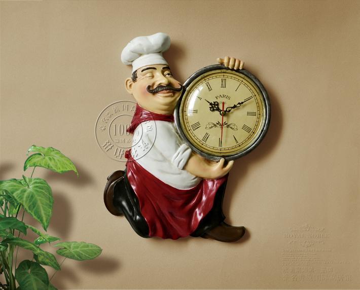 European Style Garden Resin Clock Fashion Creative