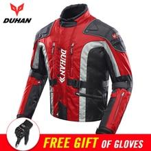 DUHAN Autumn Winter Motorcycle Jacket Men Motocross Equipment Cotton Lined Cold proof Motorbike Moto Jacket Protective