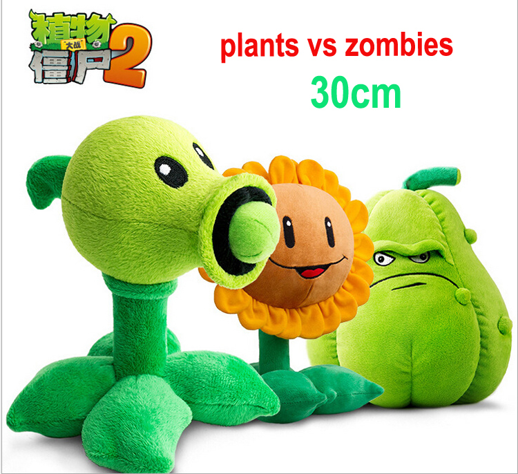 New arrival plants vs zombies plush toys 30cm stuffed toys new zombies characters Squash Doll Plants