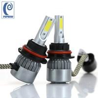 POPNOW 2pcs 72W 9007 HB5 Car Cob LED Headlight Bulbs Kit 6000K Hi Lo Beam Auto
